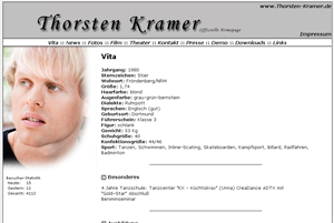 Thorsten Kramer - Screenshot of his website